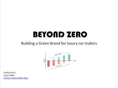 Beyond Zero - Building a Green Brand