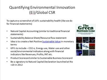 Quantifying the existing sustainability work