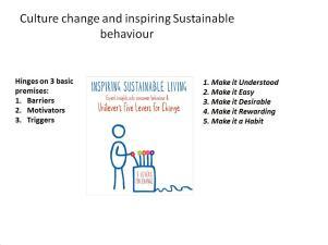 Bringing the behaviour change