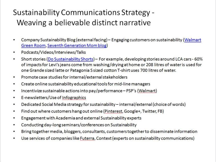 Sustainability Communications